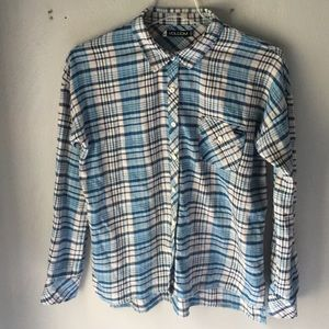 Women's Loose Volcom Flannel High/low